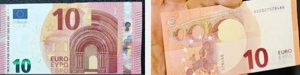 La nuova banconota da 10 € e lo sfot