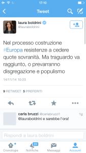 Denunciata la Boldrini