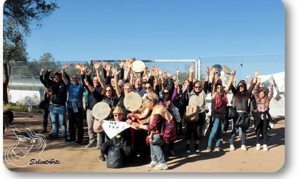 """Speciale: San Basilio nel presidio """"No TAP"""" la ronda spontanea dei tamburelli"""