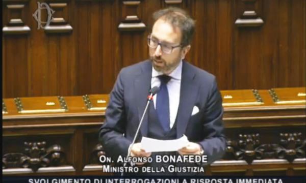 Question time: ministro bonafede. interferenza Di Matteo, dichiarazioni ben prima giugno, la ricostruzione nel – video